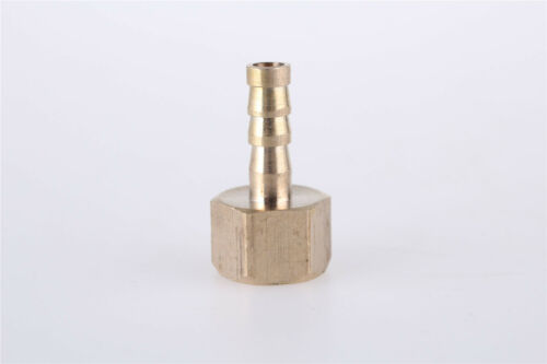 1/4BSP Female Thread 6mm Hose Barb Brass Tubing Coupler Connector Fitting 2pcs
