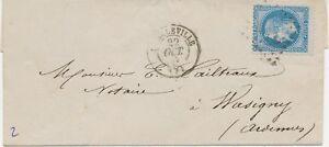 FRANKREICH-1867-20-CKaiser-Napoleon-III-m-Lorbeerkranz-blau-EF-a-Kab-Bf-ABART