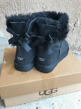 Ugg Australia Bailey Bow Mini Black Fur Lined Boots Size 7 NEW IN BOX Uggs