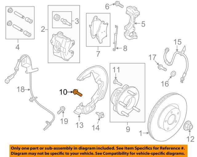 Ford OEM Brake-rear-hub Assembly Mount Bolt W715985S439