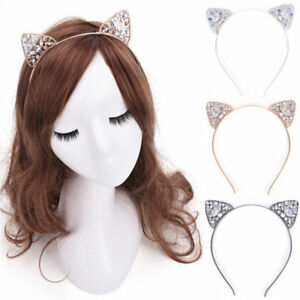 Beauty-Girls-Metal-Rhinestone-Cat-Ear-Headband-Hair-band-Costume-Party-Cosplay