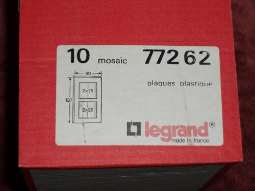 Plaque de finition double ivoire Mozaic Legrand 77262