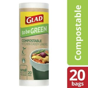 Glad To Be Green Compostable Kitchen Liners Small 20 pack
