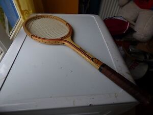 64d79f6295 Image is loading tennis-racket-vintage-Break-Fearless-wood-wooden
