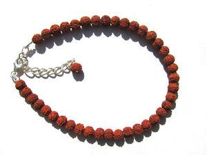 "Fein Ind 3338 Rudraksha ""tränen Shivas"" Armband 925 Silber 19,5-23,5 Cm Nr"