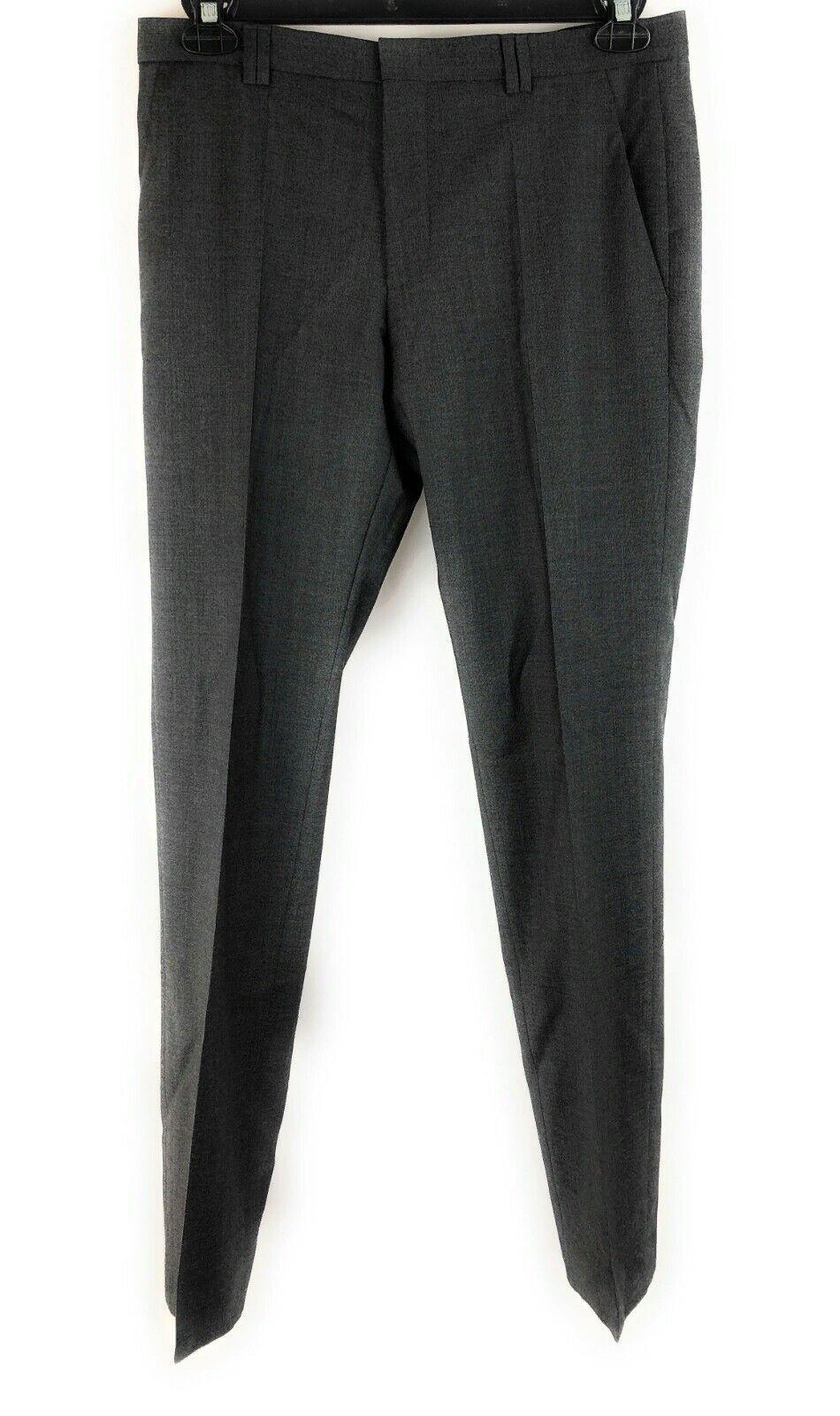 Hugo Boss HImmer1-50306850 Men Dress Pants Dark Grey NWT Auhentic Retail 175 USD