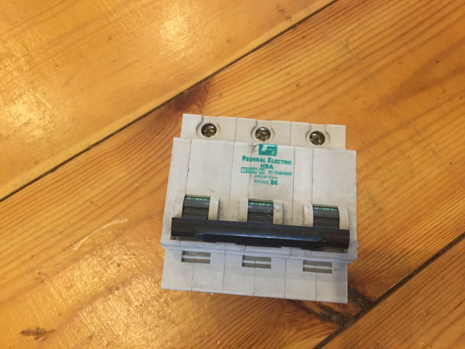 Federal Electric 6 Amp Triple Mcb Type B B6 Hba Stablok Breaker 6amp Circuit Breakers Havells Double Pole Miniature Hba3p06 Ebay