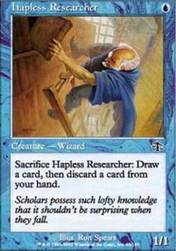 4 Hapless Researcher ~ Near Mint Judgment 4x x4 Playset MTG Magic Blue Card Ulti