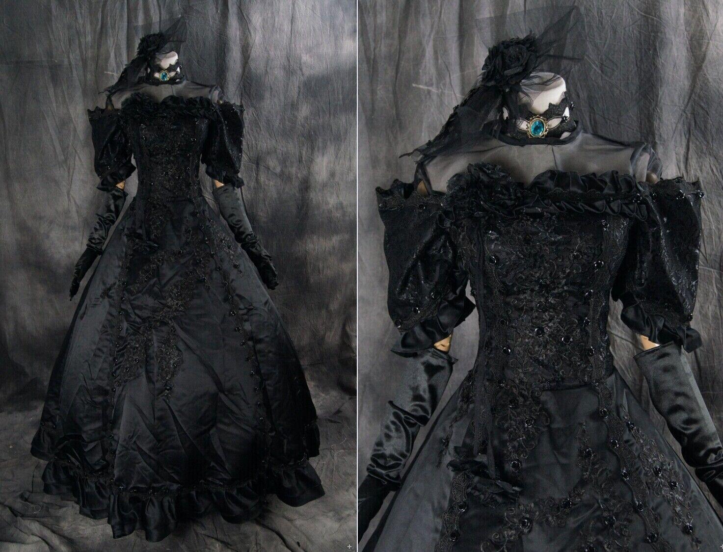 Vous ne pouvez pas acheter un un un téléphone portable ** et vous n'avez pas de rabais. A-277 s/M/L/xl/xxl Miku cosplay costume gothique victorian noir dress robe 52bb48