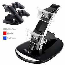 PS3 Quad 4 Dock Controller Charger Station Charging Remote Game Playstation