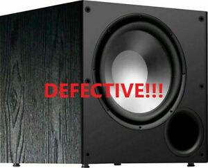 Polk-PSW108-10-034-Monitor-Series-Active-Powered-Subwoofer-FOR-PARTS