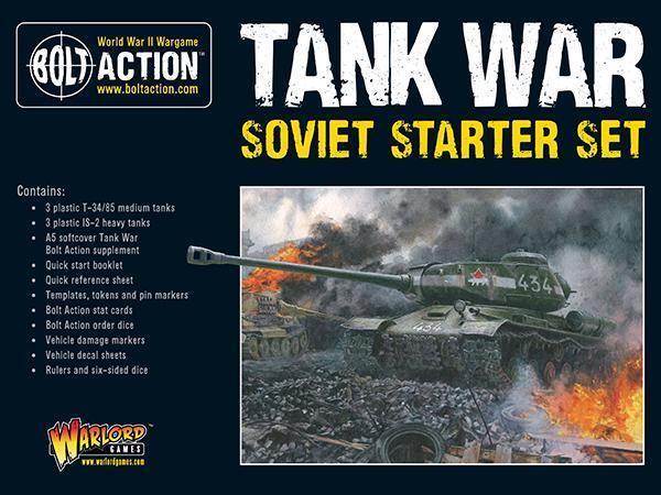 SOVIET STARTER KIT + A5 RULEBOOK - TANK WAR  - BOLT ACTION - WARLORD GAMES