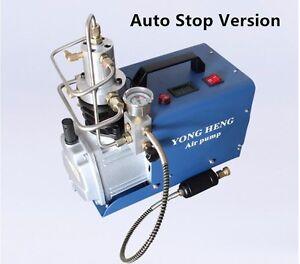 Auto-Stop-PCP-300bar-4500-Psi-hohen-Druck-Paintball-Air-Kompressor-Pneumatik