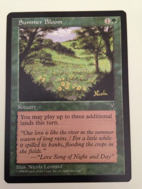 MTG Magic the Gathering   Visions      1 X  Summer Bloom  (U)  NM/M