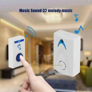 Details about Mini LED Wireless Chime Door Bell Doorbell Cordless Remote  Control 32 Tune Songs