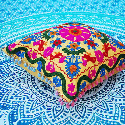 Suzani Pillow/Cushion Cases Embroidered HDOCC-A20 Indian Cotton Cushion Covers