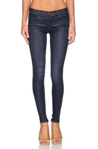 NEW J BRAND Stylish Mid Rise Super Skinny Jegging Jeans Coated Prism blue