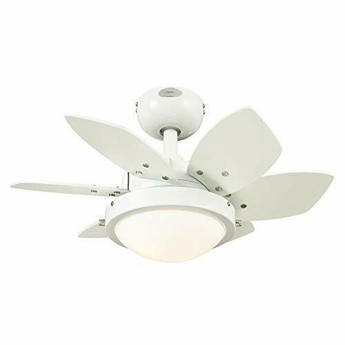 White Westinghouse Lighting 7224700 Quince LED Ceiling Fan with Light 24 Inch