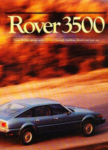 1980 Rover 3500 Road Test Original Car Review Report Print Article J950
