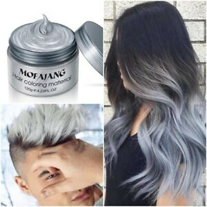 Details about Silver Grey Color Hair Wax Men Women Grandma Ash Granny Gray  Washable Temporary