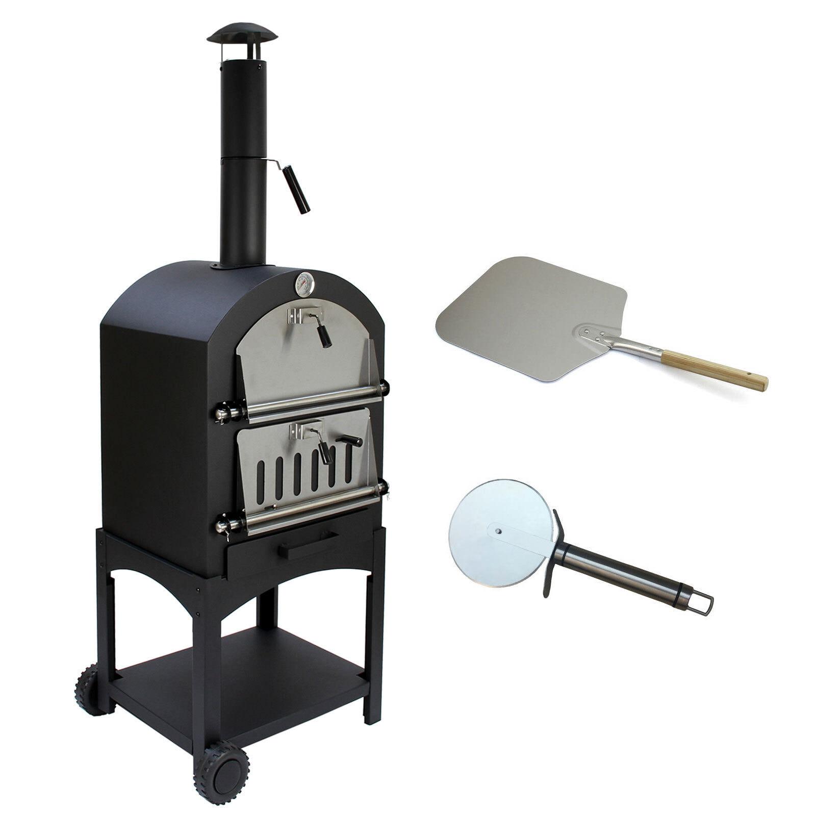 Outdoor Pizza Oven Garden Chimney Charcoal Bbq Smoker Bread Oven Ebay