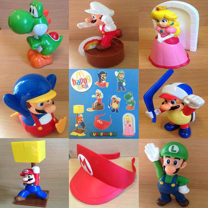 McDonalds Happy Meal Toy 2015 Super Mario Team Plastic Figure Toys - Various