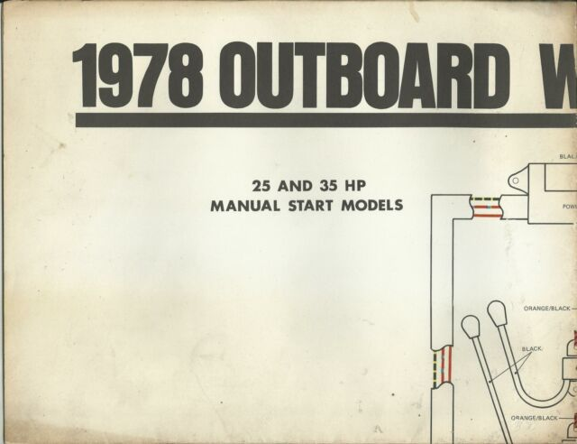 Johnson Marine Boat 1978 Outboard Wiring Diagrams 25hp