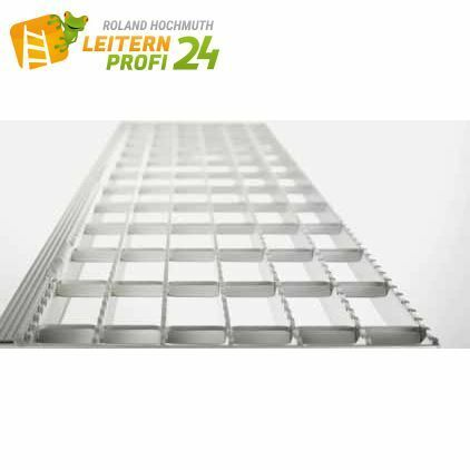 Stufenbelag Aluminium Gitterrost - eloxiert Breite 600 mm (Mehrpreis pro Stufe)