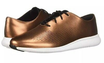Cole Haan Womens 2.Zerogrand Laser Wing Oxford Copper Leather Size 7 NEW