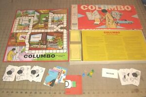 1973 COLUMBO The Detective Board Game - TV Series For Parts/Pieces Not Complete