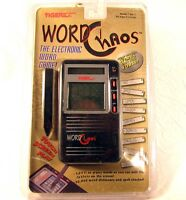 Sealed Tiger Electronics Word Chaos Lcd Handheld Video Game Scrabble