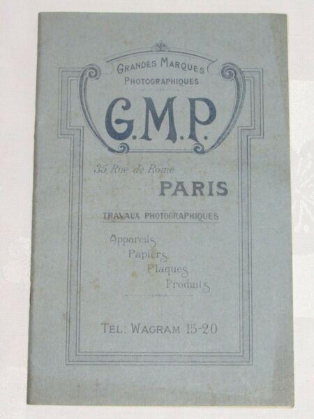 04f59 Rare Ancien Catalogue Appareil Photo G.m.p Grandes Marques Photographiques Achat SpéCial