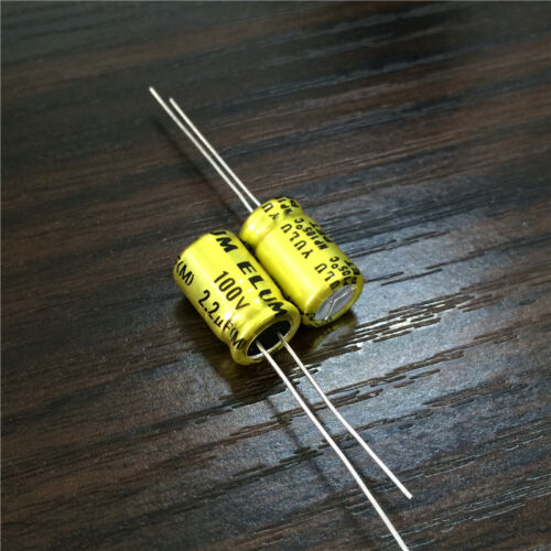 50pcs 2.2uF 100V ELUM NP 8x11.5mm 100V2.2uF Bipolar Electrolytic Capacitor