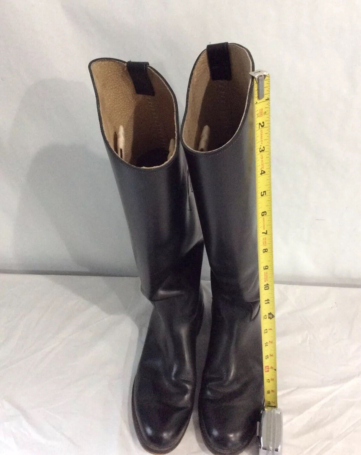 Biltrite Womens Size 8 1/2 Black Leather Riding Boots