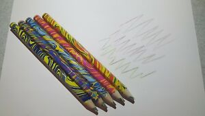 New 5 Piecelot Rainbow Pencils Multi Color Drawing Novelty Sketches