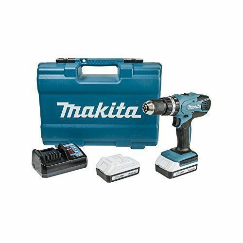 TRAPANO AVVITATORE MAKITA 18 V HP457DWE  2 BATTERIE LITIO 18V C. PERCUSSIONE