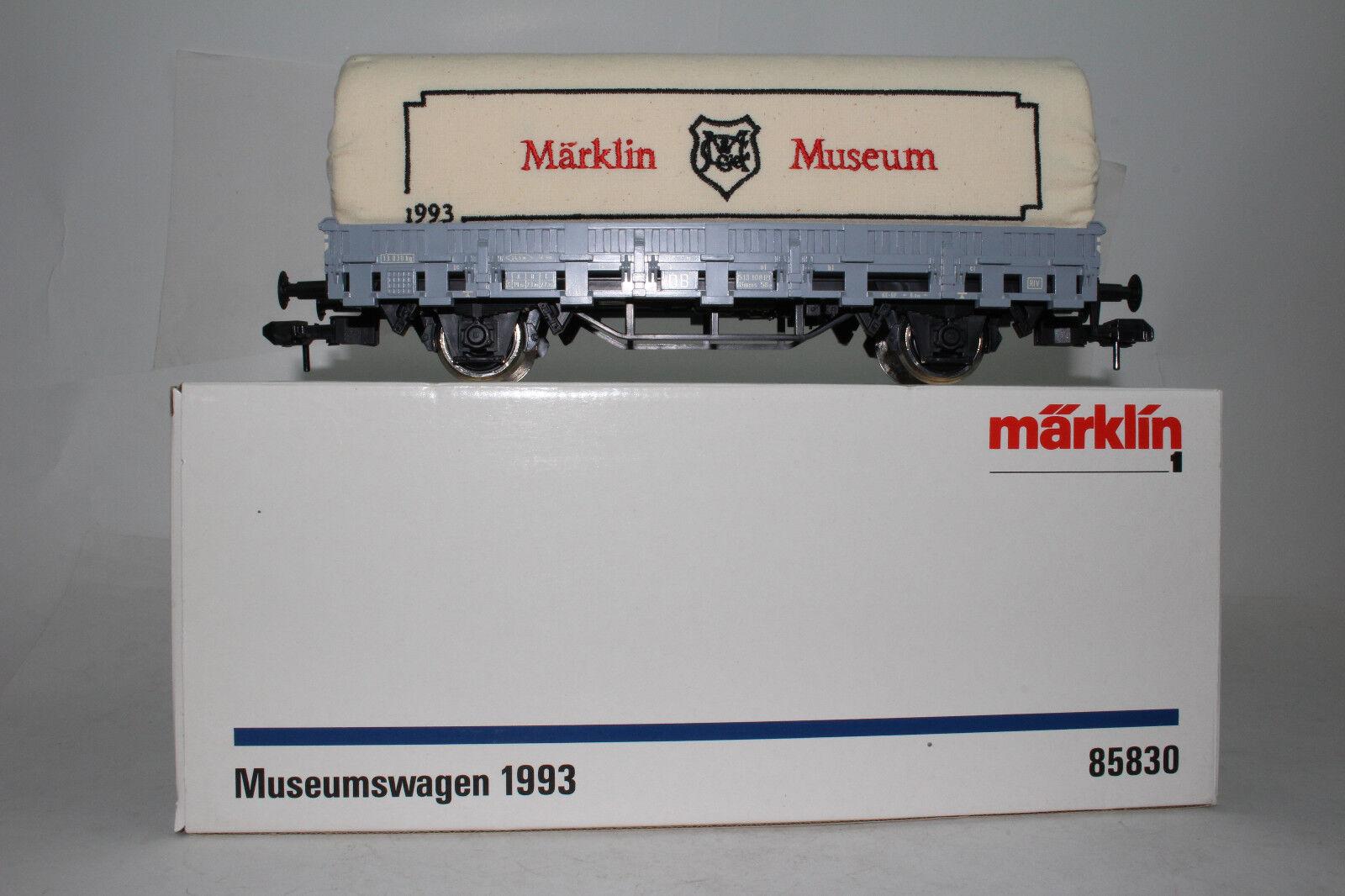 MARKLIN GAUGE 1 MUSEMSWAGEN 1993 CANVAS täckt FLAT bil, lådaED, Lot B