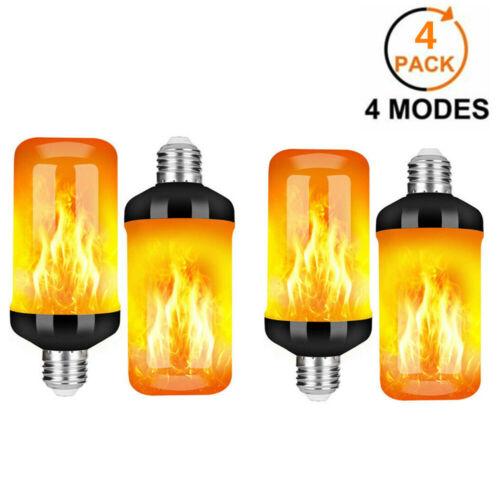 1//2//4pcs E27 6W Flame Effect Fire Light Bulb Flickering Flame Bulb Lamp Decor UK