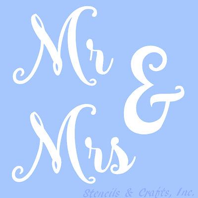 MR & MRS STENCIL WORD WORDS TEMPLATE PAINT PATTERN ART CRAFT COLOR  SCRAPBOOK NEW | eBay