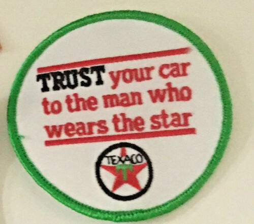 Trust Your Car to the Man Who Wears the Star Texaco Oil patch 3 in #3566