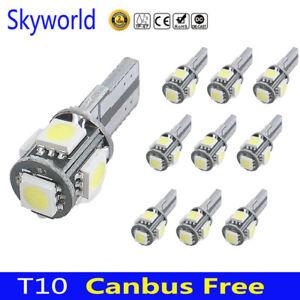 10 X Canbus Error Free White T10 5-SMD 5050 LED Interior Light Bulbs W5W 194 168