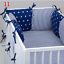 PILLOW-BUMPER-made-form-6-cushions-for-cot-bed-GREY-PINK-BLUE-NAVY-STARS thumbnail 12