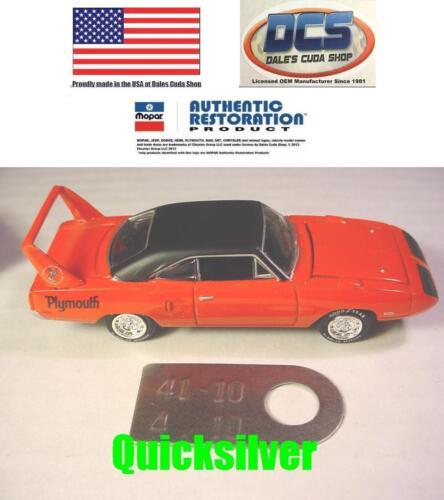Dodge Plymouth Chrysler 9-3//4 Dana 60 Axle Tag 4.10 Gear Ratio NEW MoPar