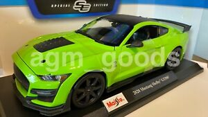 Maisto SCALA 1:18 - Ford Mustang Shelby GT500-Verde-Modello Diecast Auto