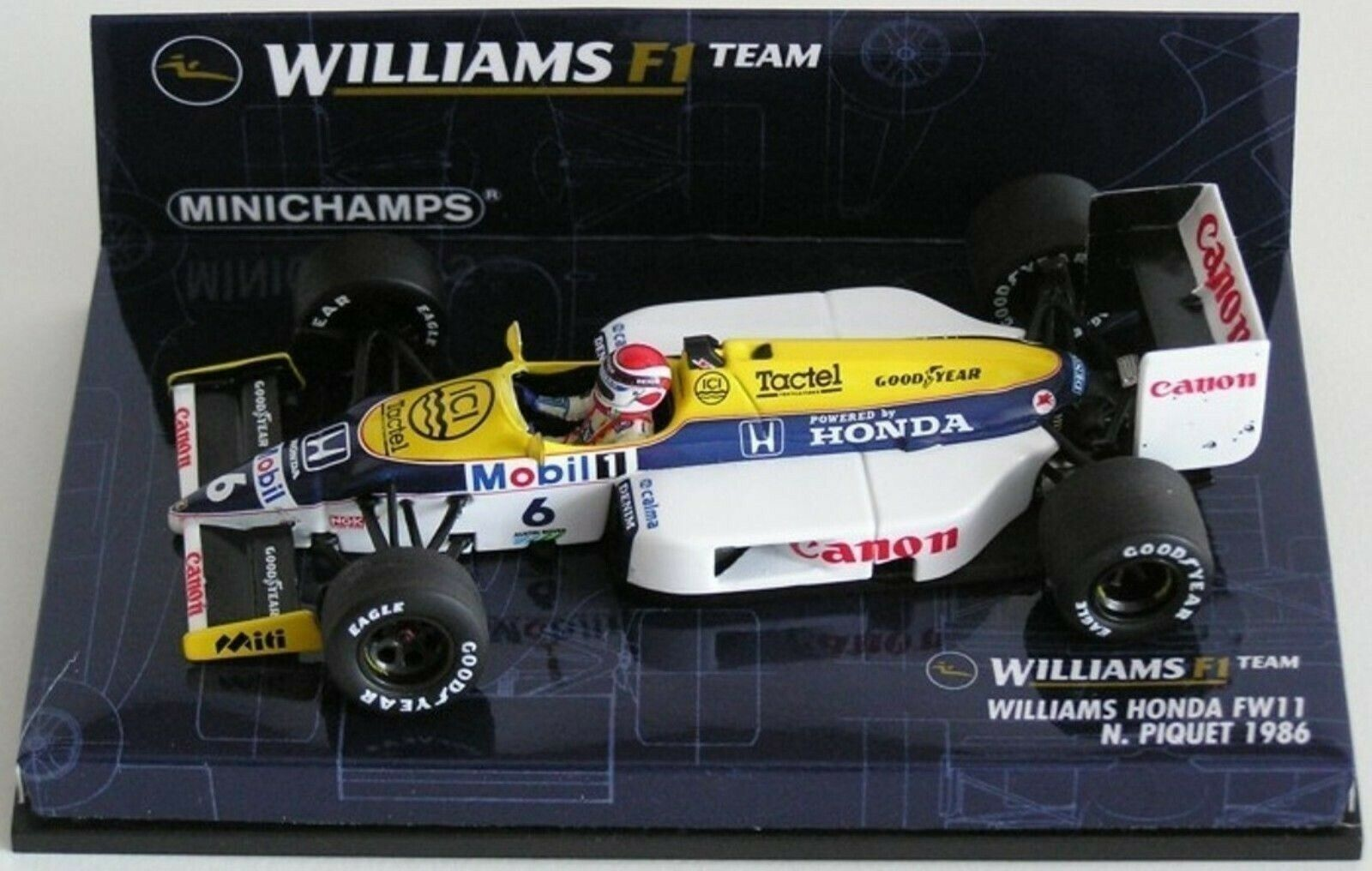 Wow extrêmement rare Williams FW11 Honda Piquet Brands Hatch 1986 1 43 Minichamps