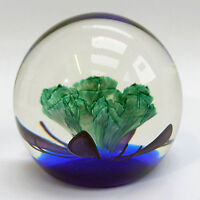 Caithness Ltd Ed. Paperweight - Floral Illusion - Colin Terris - 1991