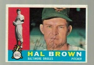 Hal-Brown-Signed-1960-Topps-Baseball-Card-Autograph-100-guaranteed-Orioles