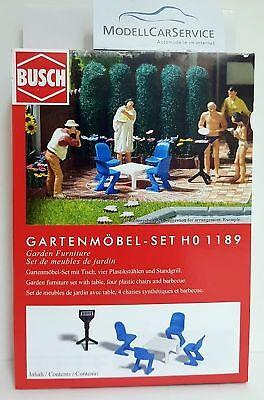 Busch 1 87 H0 1189 Gartenmobel Set 4001738011890 Ebay