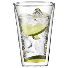 2 x 2er Set Bodum PAVINA Glas doppelwandig 0.25L Neu