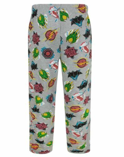 NUOVI Pantaloncini Uomo Ufficiale DC JUSTICE LEAGUE Lounge Pants PJ Bottoms Taglie Piccolo A XL